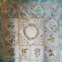 Custom quilt making Shabby Chic quilt