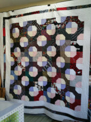 Memory Quilt made with mens ties & dress shirts